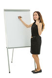 Business woman giving thumbs up during business training Royalty Free Stock Image