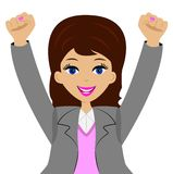Business woman is glad Stock Images