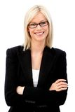 Business woman with glasses Stock Images