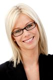 Business woman with glasses Royalty Free Stock Image