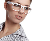 Business woman in glasses Stock Images