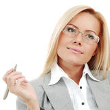 Business woman in glasses Stock Photography