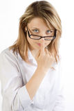 Business Woman with Glasses Stock Image