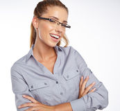 Business woman in glasses Royalty Free Stock Image