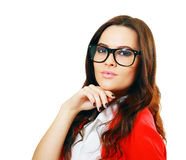 Business woman in glasses Stock Photos