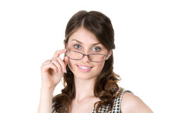 Business woman with glasses calm and confident Stock Photos