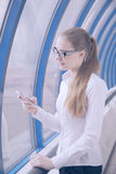 Business woman in glasses Royalty Free Stock Photo