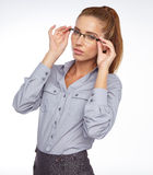 Business woman in glasses Stock Photo