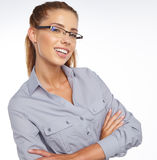 Business woman in glasses Royalty Free Stock Images