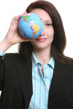 Business Woman with Globe Stock Images