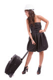 Business woman going on vacations Stock Photo