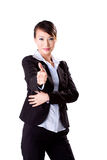 Business woman good work sign Stock Image