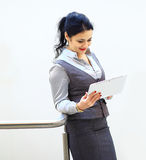 Business woman on a good working day Royalty Free Stock Photos
