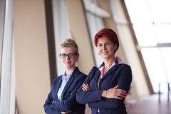 Business woman goup at modern bright office Royalty Free Stock Photos