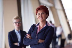 Business woman goup at modern bright office Stock Image