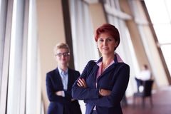 Business woman goup at modern bright office Royalty Free Stock Image
