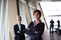 Business woman goup at modern bright office Royalty Free Stock Photography
