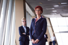 Business woman goup at modern bright office Stock Photography
