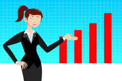 Business woman with graph Stock Images