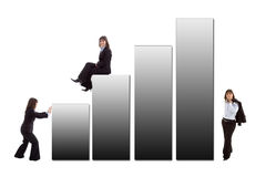 Business woman with a graphic Royalty Free Stock Images
