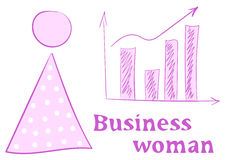 Business woman and graphic Stock Images