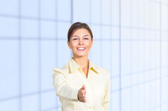 Business woman greeting Stock Photography