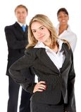 Business woman with a group Stock Images