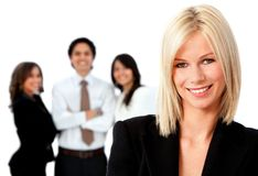 Business woman with a group Royalty Free Stock Photo