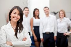 Business woman with a group Stock Photography