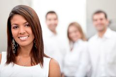 Business woman with a group Stock Photo