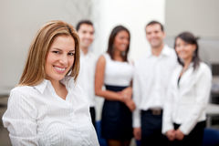 Business woman with a group Royalty Free Stock Photography