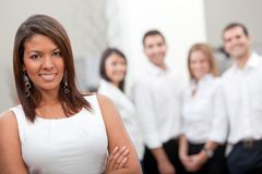 Business woman with a group Royalty Free Stock Images