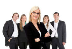 Business woman with a group Stock Image