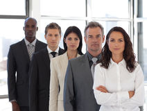 Business woman with group in background Royalty Free Stock Photos