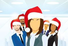 Business Woman Group of People New Year Christmas Stock Images