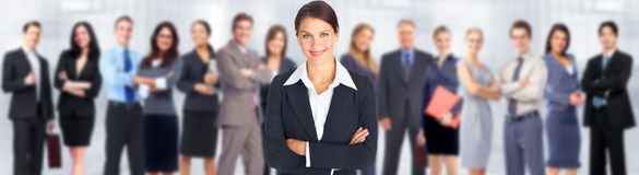 Business woman. Business woman and group of workers people team stock photo