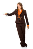 Business woman with hand Stock Photo