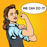 Business woman hand gesture pop art style vector Royalty Free Stock Photos