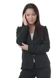 Business woman with hand on head Stock Images