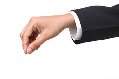 Business woman hand holding items Stock Images