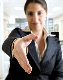 Business woman hand shake Royalty Free Stock Photo