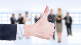 Business woman hand showing like Royalty Free Stock Photo