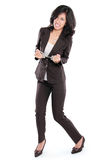 Business woman in handcuffs Royalty Free Stock Photography