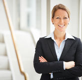 Business woman with hands folded Royalty Free Stock Photo