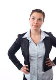 Business woman hands on hips Stock Photo