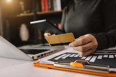Online Shopping payments  concept. royalty free stock photo