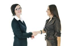 Business woman handshake Stock Photos