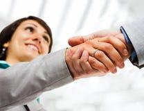 Business woman handshake Royalty Free Stock Image