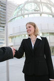 Business Woman Handshake Royalty Free Stock Photo