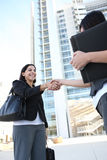 Business Woman Handshake Royalty Free Stock Photos